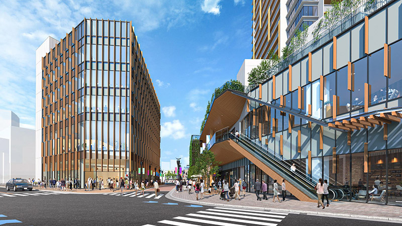 千里丘駅西地区市街地再開発事業 完成イメージ図 05