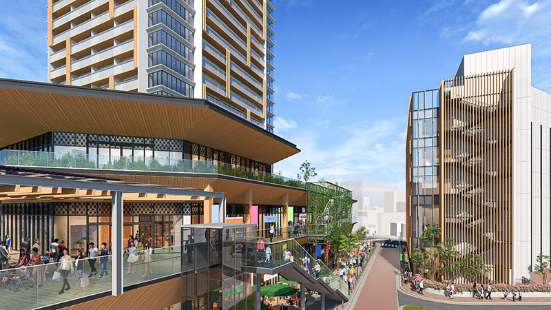 千里丘駅西地区市街地再開発事業 完成イメージ図 06