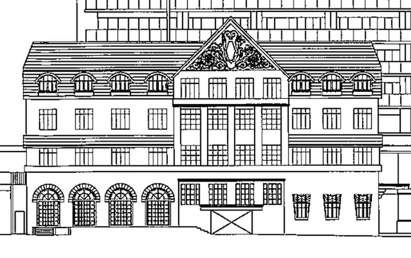 (仮称)宝塚ホテル跡地計画 商業施設棟のデザイン