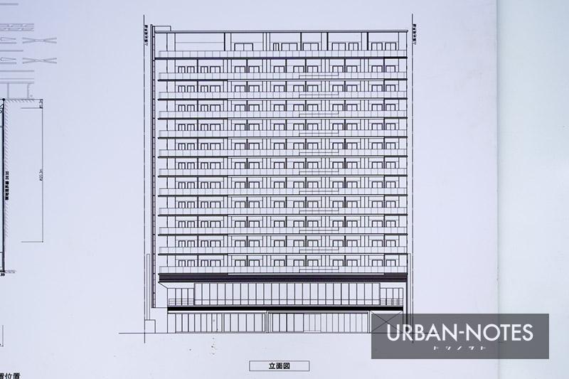 (仮称)西区本町2丁目プロジェクト 新築工事 立面図