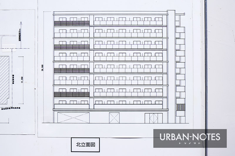 (仮称)東成区玉津3丁目計画 新築工事 立面図