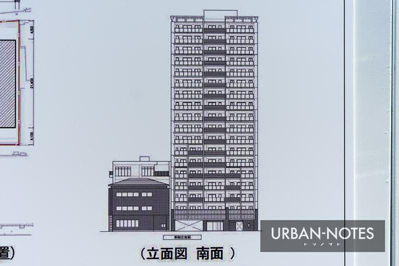 (仮称)大阪市西区靱本町PJ 立面図