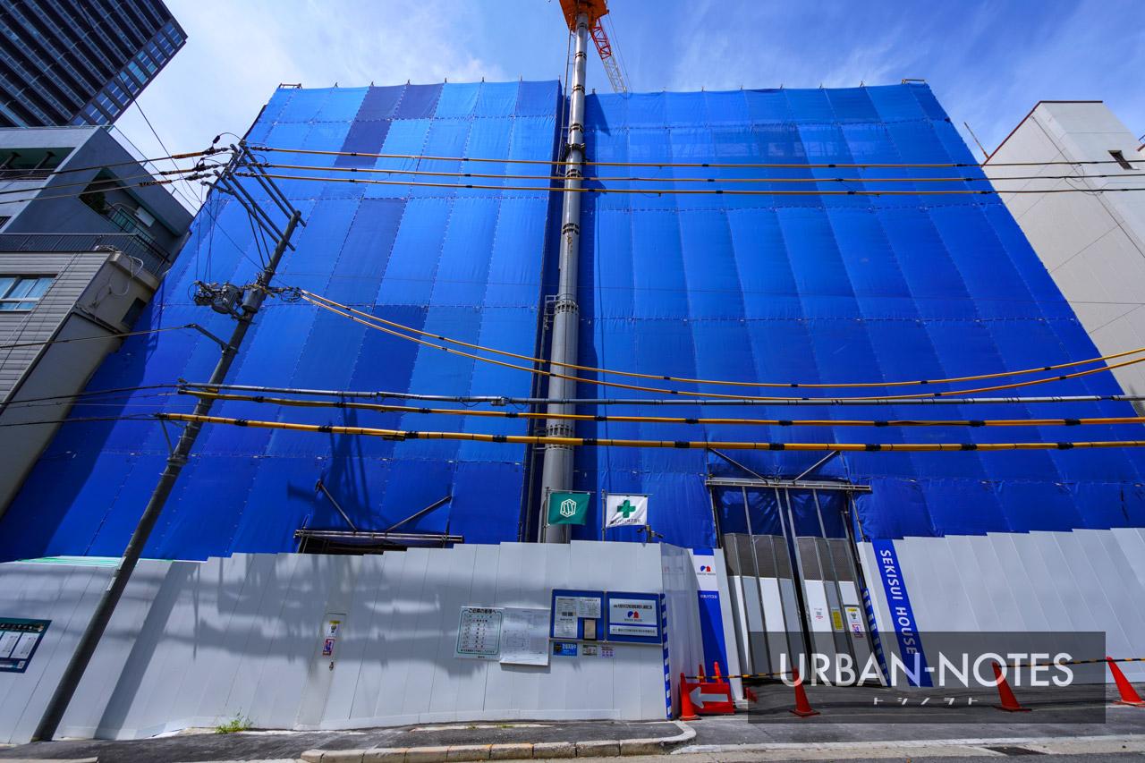 (仮称)大阪市天王寺区東高津町プロジェクト新築工事 2021年9月 02