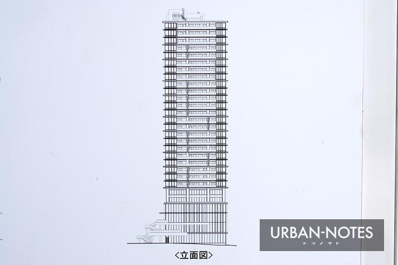 (仮称)OMタワー上本町 新築工事 立面図