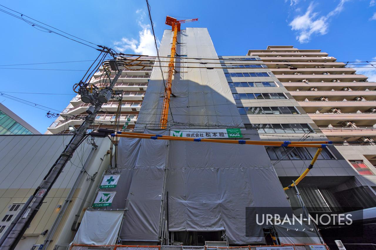 (仮称)博労町ワンルームマンション新築工事 2021年10月 02