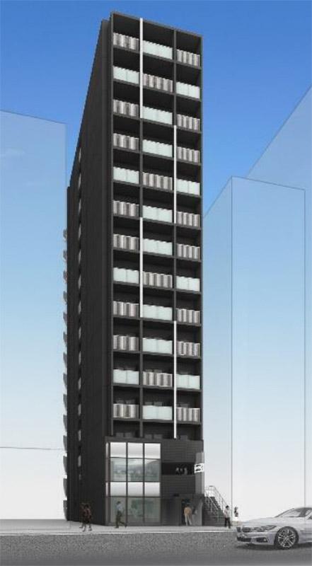 (仮称)博労町ワンルームマンション新築工事 完成イメージ図