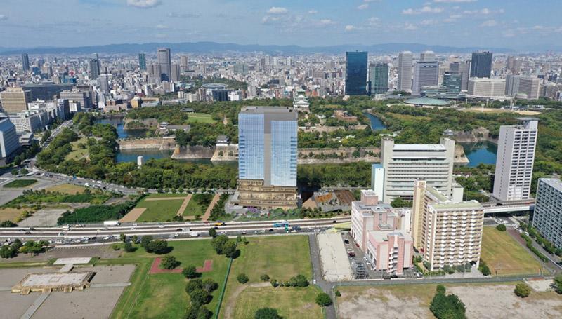 NTT西日本本社ビル建替計画 (法円坂北特定街区) 完成イメージ図 02
